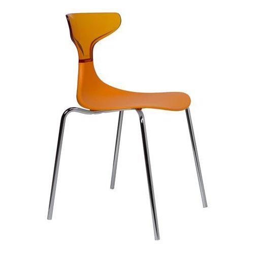 Green Krzesło steam punk pomarańczowe