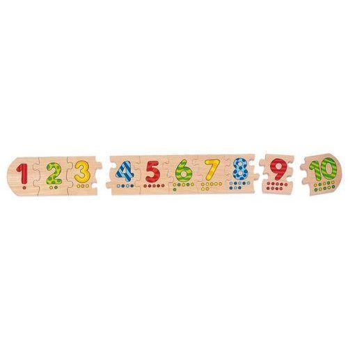 Goki Drewniane puzzle liczbowe, casue ostatni raz w ofercie! (4013594570121)