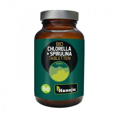 Spirulina BIO + Chlorella BIO 400mg 300 tabletek