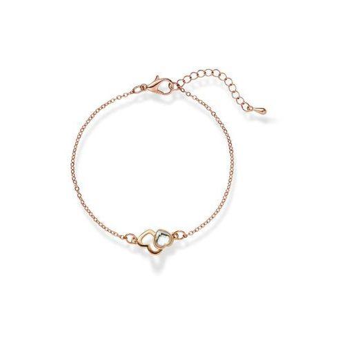 Bonprix Bransoletka z kryształem swarovskiego® dymny jasnoróżowy pozłacany