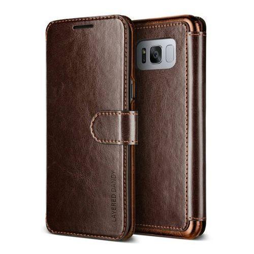 Etui VRS Design Layered Dandy Galaxy S8 Plus Brown, kolor brązowy