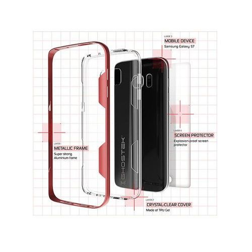 Etui cloak samsung galaxy s7 edge czerwone marki Ghostek