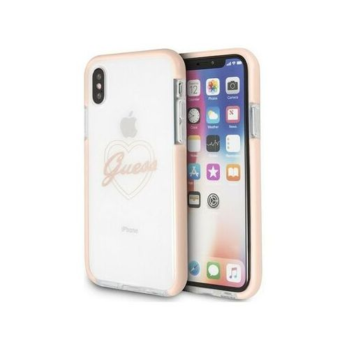 Guess guhcpxshpi iphone x/xs hardcase pink heart shockproof