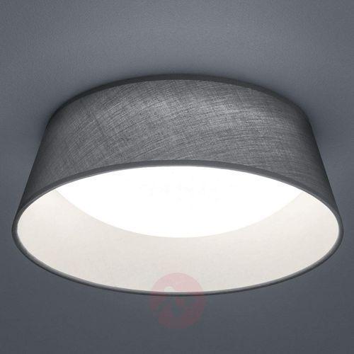 Natynkowa lampa sufitowa ponts r62871211 okrągła oprawa abażurowa led 14w plafon szary marki Trio
