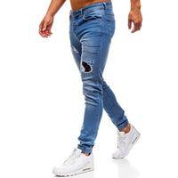 Otantik Spodnie jeansowe joggery męskie niebieskie denley 2036