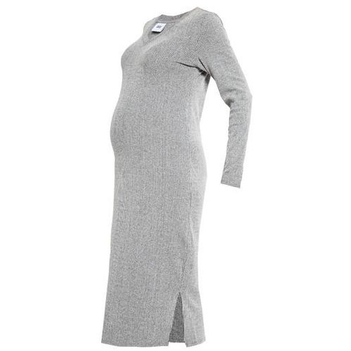 MAMALICIOUS MLMELOW Sukienka z dżerseju medium grey melange