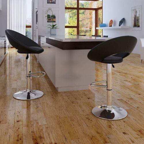 Vidaxl stołki barowe, 2 szt., czarne (8718475848653)