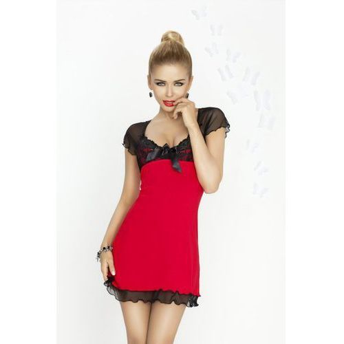 Dkaren Irina czerwono-czarna Koszula nocna (5902230017177)