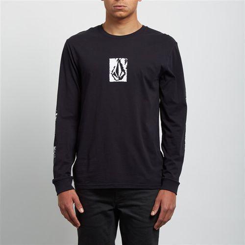 Koszulka - pixel stone bsc ls black (blk) rozmiar: m, Volcom