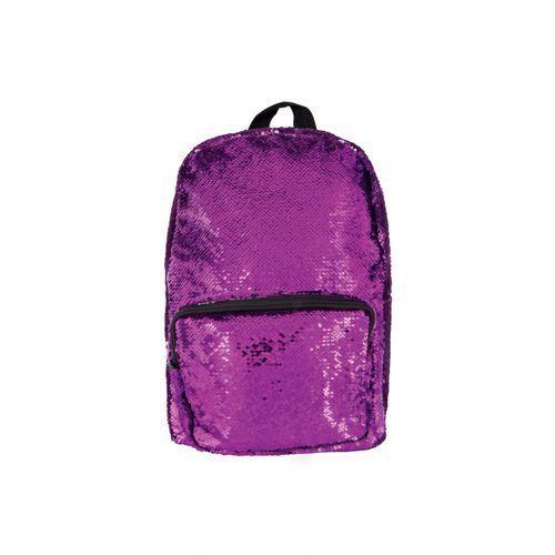 Cekinowy Plecak Fioletowo-Srebrny 4Y35D6