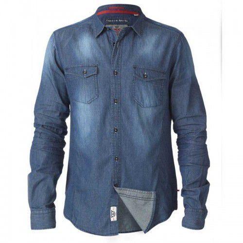 Duke D555 tobias koszula męska jeansowa duże rozmiary