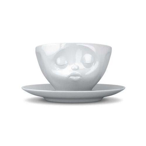 58products - filiżanka do kawy - całująca buźka - biała - 0,2 l