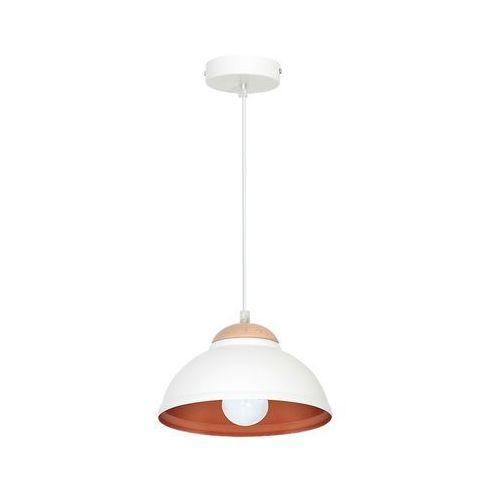 Luminex Lampa wisząca arne 7401 lampa sufitowa 1x60w e27 biały / miedziany