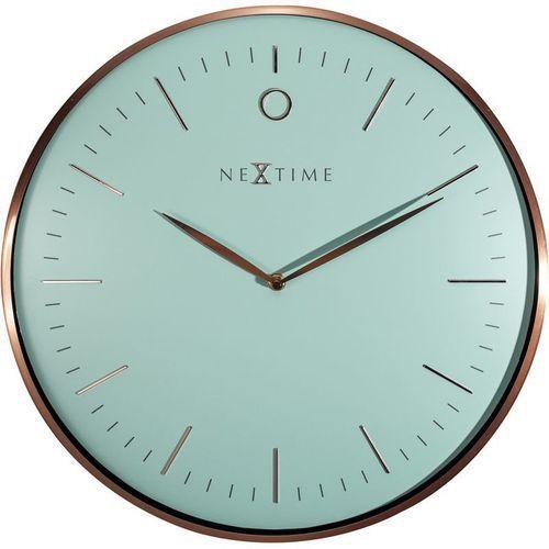Nextime - zegar ścienny glamour - turkusowy
