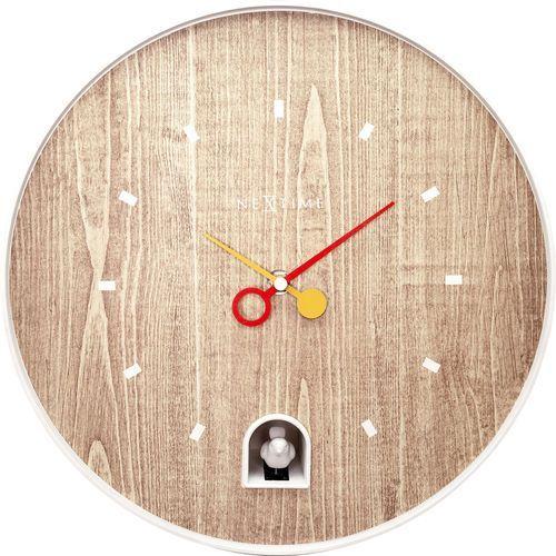 Zegar z białym słowikiem nightingale 30 cm (5220 wi) marki Nextime