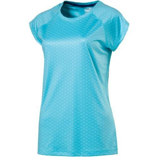 Puma koszulka sportowa graphic ss tee w nrgy turquoise aop s (4057828079813)