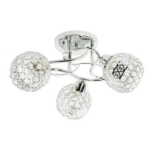 Lampex Amor 3 728/3 plafon lampa sufitowa 3x60W E27 srebrny / chrom, LAM728/3