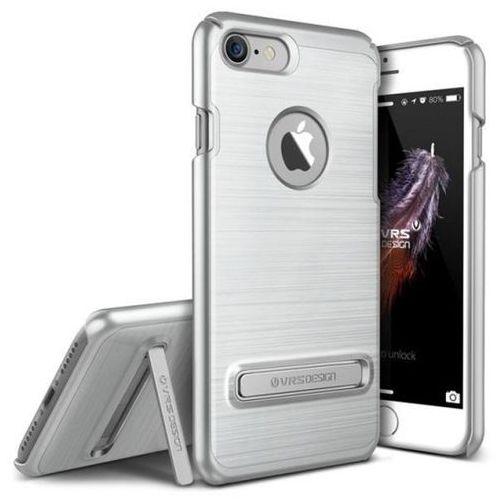 Etui VRS DESIGN Simpli Lite do iPhone 7 Srebrny, kolor szary