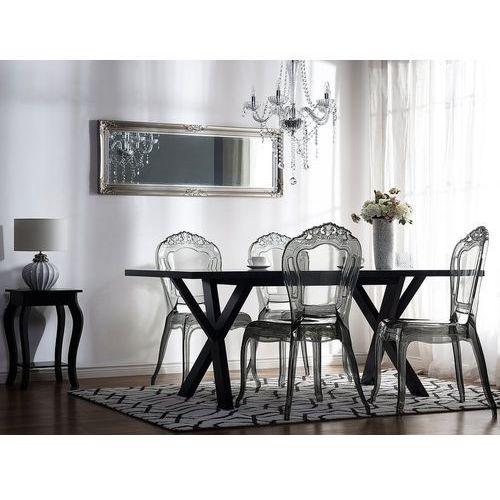 Zestaw do jadalni 2 krzesła przezroczysto-czarne VERMONT