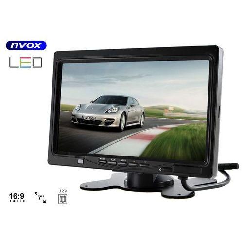 """NVOX HM 716 HD monitor zagłówkowy lub wolnostojący LCD 7"""" cali HD AV z RAMKĄ 12V (5901867720351)"""