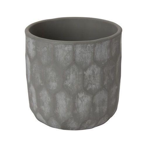 Doniczka ceramiczna GoodHome ozdobna 12 cm geo grey, C76