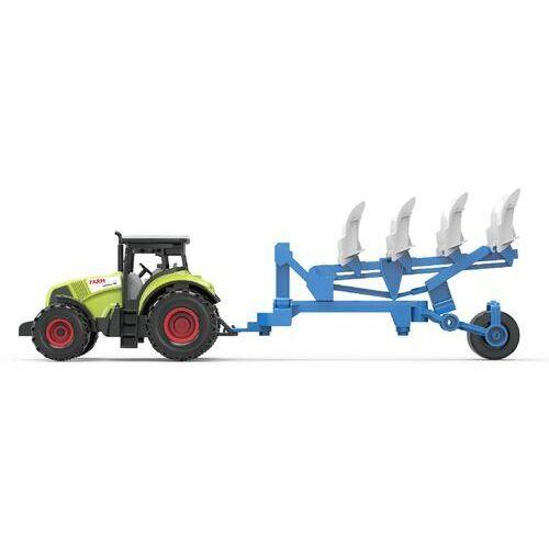 Traktor z przyczepą dzwiękiem i światłem marki Askato