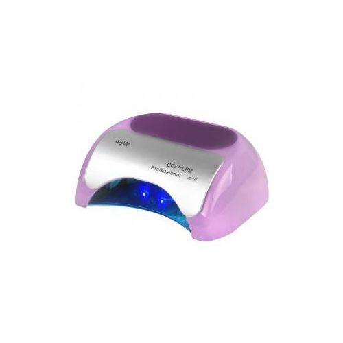 Lampa Professional 2w1 Uv Led+Ccfl 48w Timer+Sensor Fioletowa
