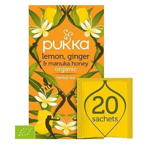 Pukka Lemon,ginger & manuka honey bio 20 saszetek (5060229011534)