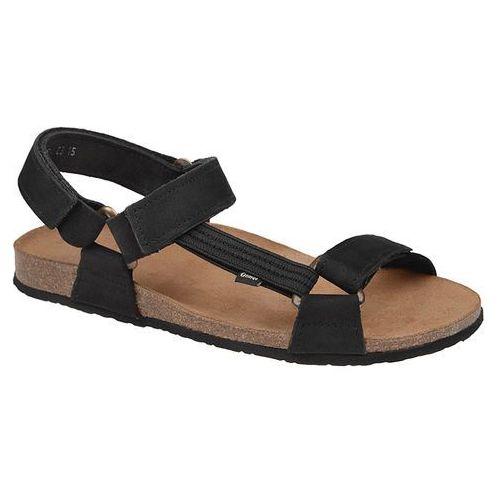 Sandały 415cp czarne bioform fussbett - czarny ||beżowy marki Otmęt