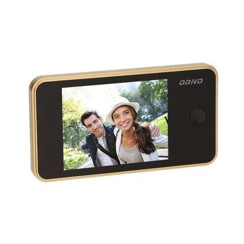 """Kamera do drzwi, wizjer, judasz, monitor lcd 3,2"""", złoty, or-wiz-1104/c marki Orno"""