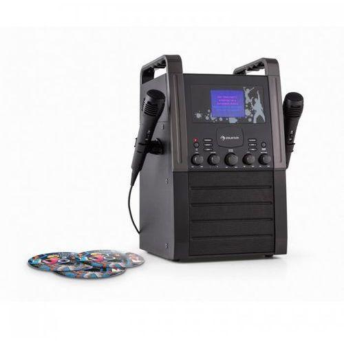 Ka8b-v2 bk zestaw karaoke odtwarzacz cd aux 2 x mikrofon3 cd + g do karaoke marki Auna