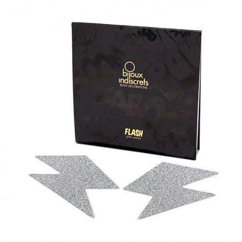 Naklejki na sutki - Bijoux Indiscrets Flash Bolt Silver Srebrna Błyskawica - sprawdź w wybranym sklepie