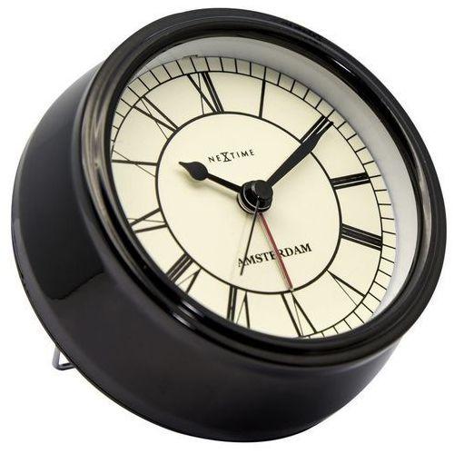 NeXtime - Zegar stojący Small Amsterdam - czarny, kolor czarny