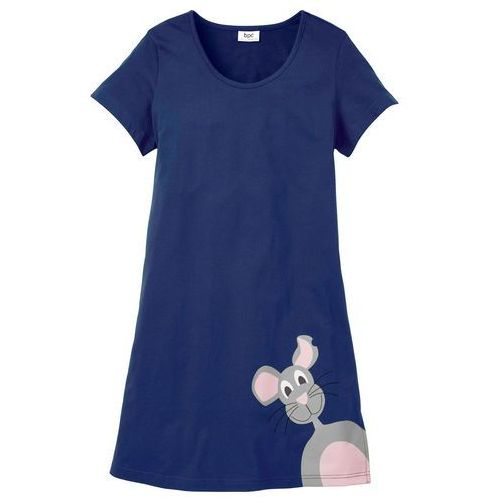 Koszula nocna bonprix kobaltowy, kolor niebieski