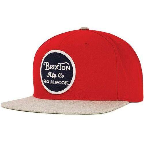 Czapka z daszkiem  - wheeler red/light heather grey (0751) rozmiar: os marki Brixton