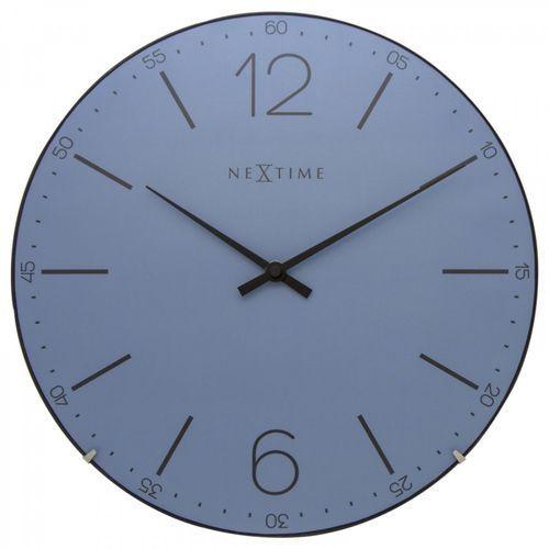 Zegar ścienny Index Dome Nextime 35 cm, niebieski (3159 BL), kolor niebieski