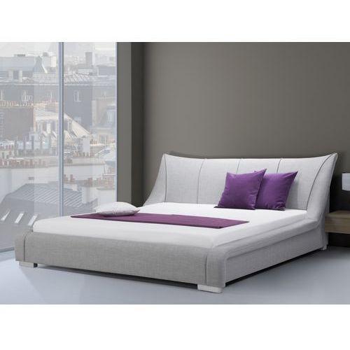 Nowoczesne łóżko tapicerowane ze stelażem 160x200 cm - nantes szare od producenta Beliani