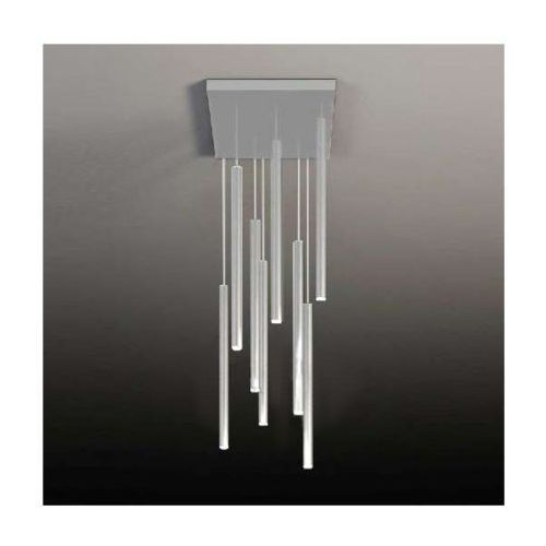 Shilo Lampa wisząca yabu 5530/gu10/bi metalowa oprawa sople zwis kwadratowy tuby białe (1000000245073)