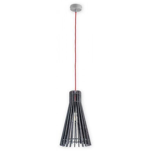 Lemir arana o2601 sza + cze lampa wisząca zwis 1x60w e27 szary / czerwony (5902082867333)