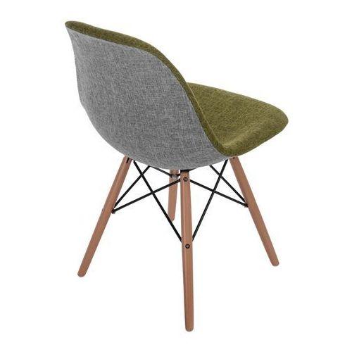 Krzesło P016W Duo jasne drewniane nogi (zielono-szare) D2, d2-4992