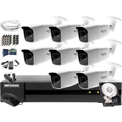 Dla wymagających zestaw monitoringu Hikvision Hiwatch HWD-7108MH-G2, 8 x HWT-B323-Z, 1TB, Akcesoria, ZM11533