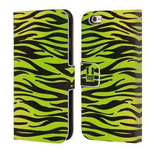 Etui portfel na telefon - Mad Prints Yellow Green Zebra, kolor zielony