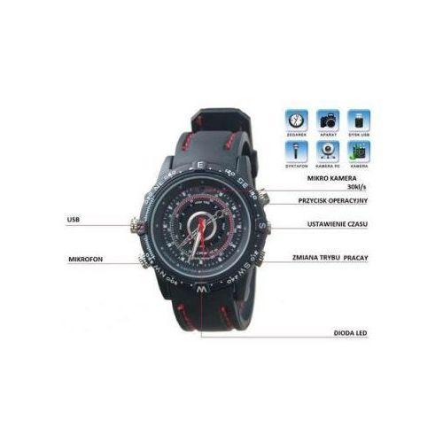 Spy Szpiegowski zegarek na rękę, nagrywający obraz i dźwięk (8gb) + rejestrator dźwięku + aparat foto...
