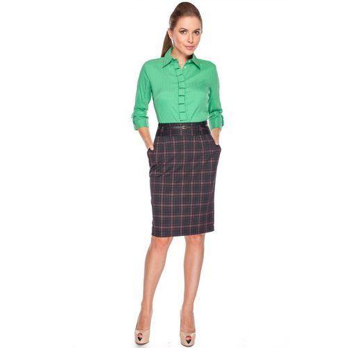 Zielona koszula w prążki - Duet Woman, 1 rozmiar