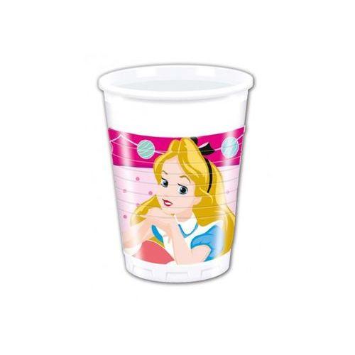 Kubeczki urodzinowe Alicja w Krainie Czarów - 200 ml - 8 szt. z kategorii dekoracje i ozdoby dla dzieci
