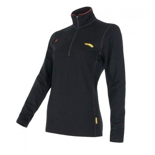 Bielizna termoaktywna Merino Wool Upper Women's Sweatshirt Short Zipper Czarny S