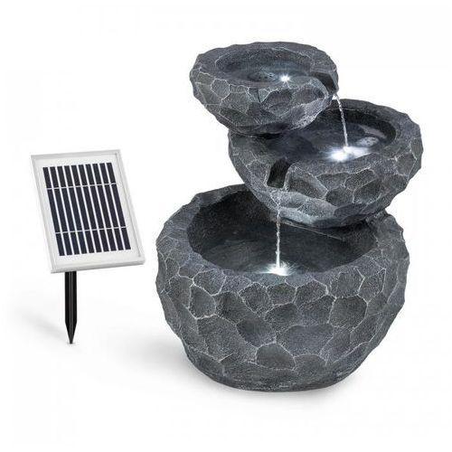 Blumfeldt Murach Fontanna kaskadowa akumulator 2 kWpanel słoneczny 3 diody LED