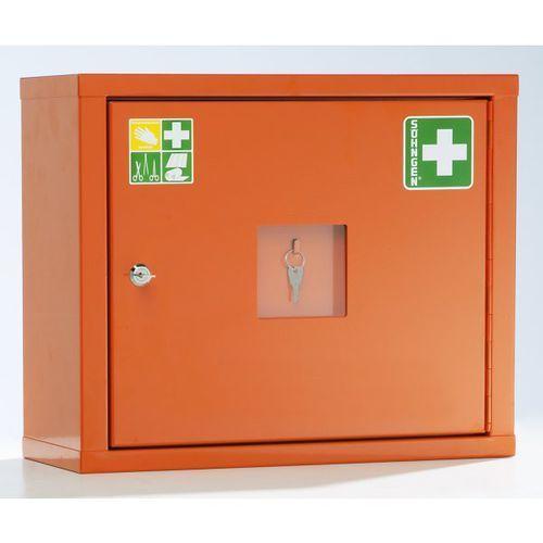Unbekannt Szafka opatrunkowa wg din 13157, jednodrzwiowa, kolor pomarańczowy sygnalizacyjn