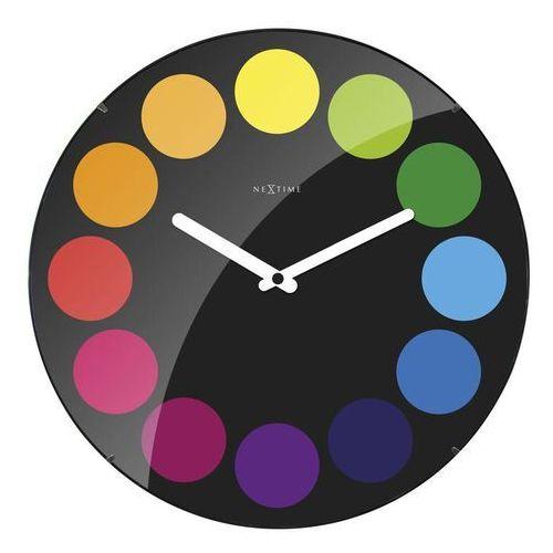 Nextime Zegar ścienny dots dome czarny