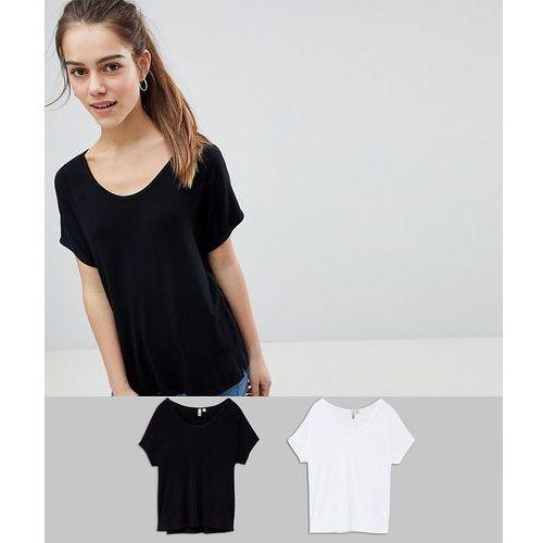 Asos design petite t-shirt with drapey batwing sleeve 2 pack save - multi marki Asos petite